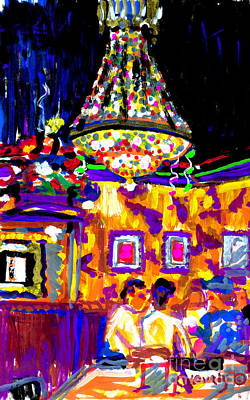 Painting - The Brick Oven Chandelier by Candace Lovely
