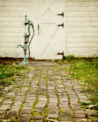 Country Chic Photograph - The Brick Path by Lisa Russo
