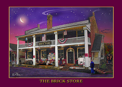 Photograph - The Brick Store by Nancy Griswold