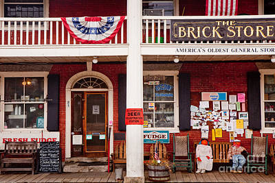 Photograph - The Brick Store by Susan Cole Kelly