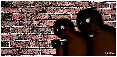 The Bricks Art Print by Richard N Watkins