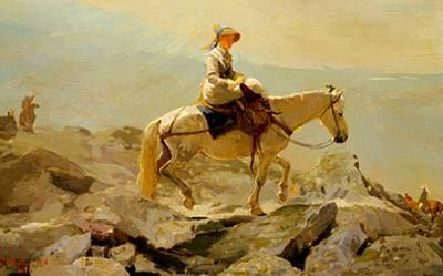Bridal Path Painting - The Bridal Path White Mountains 1868 by Homer Winslow