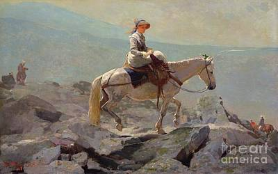 Mountainous Painting - The Bridal Path by Winslow Homer