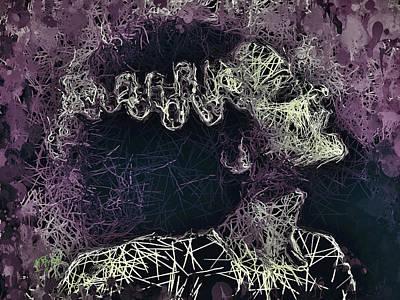 Mixed Media - The Bride Of Frankenstein by Al Matra