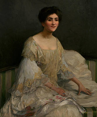 Adela Painting - The Bride by Elizabeth Adela Stanhope Forbes