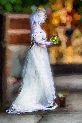 Digital Art - The Bride by John Haldane