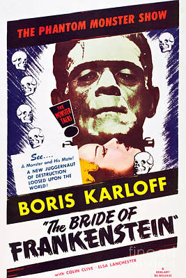 Painting - The Bride Of Frankenstein Boris Karloff 1935 by R Muirhead Art