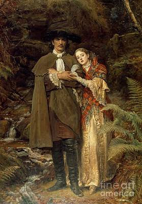 Shawl Painting - The Bride Of Lammermoor by Sir John Everett Millais