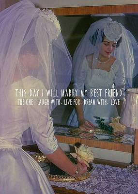 The Bride Quote Art Print by JAMART Photography