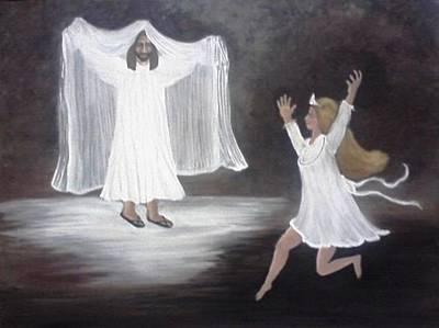 The Bridegroom Calls Art Print by Patty  Thomas