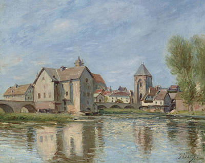 Alfred Sisley Painting - The Bridge And Mills Of Moret Sur Loing by Alfred Sisley