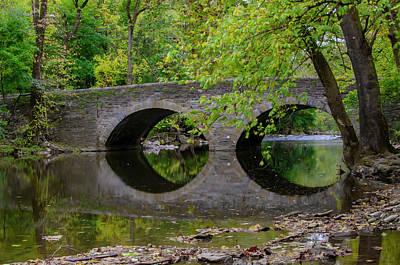 Photograph - The Bridge At Bells Mill - Philadelphia by Bill Cannon