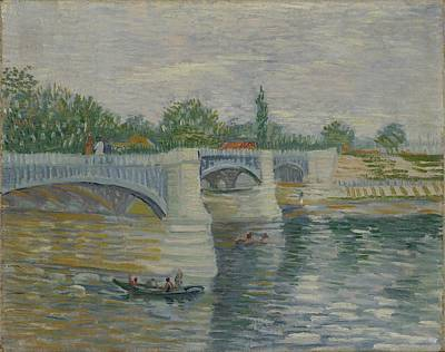 Painting - The Bridge At Courbevoie Paris, May - July 1887 Vincent Van Gogh 1853  1890 by Artistic Panda