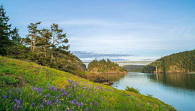 Photograph - The Bridge At Deception Pass by Ken Stanback