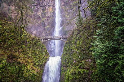 Waterfall Photograph - The Bridge At Multnomah Falls by Lynn Bauer