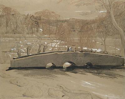 Drawing - The Bridge At Shoreham by Samuel Palmer