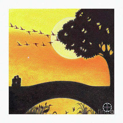 Loon Mixed Media - The Bridge At Sunrise by Art By LaRoque