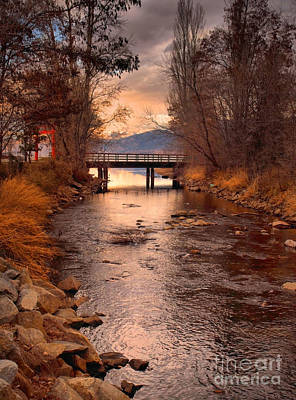 Okanagan Lake Photograph - The Bridge By The Lake by Tara Turner