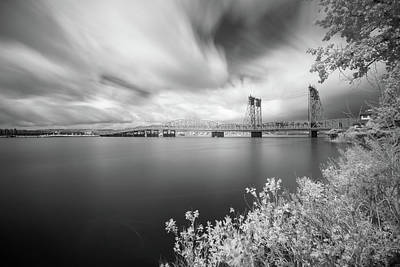 Photograph - The Bridge Crosses Columbia River by William Lee