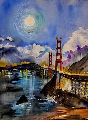 Painting - The Bridge by Esther Woods