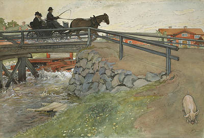 Painting - The Bridge. From A Home by Carl Larsson