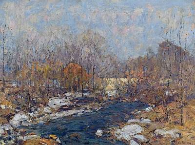 Painting - The Bridge  Garfield Park  By William J  Forsyth by Artistic Panda