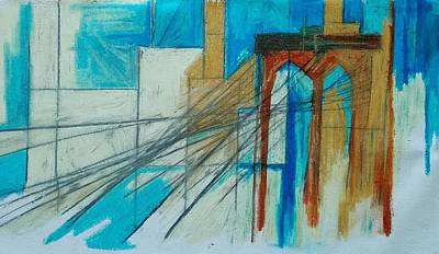 Drawing - The Bridge by Helen Syron
