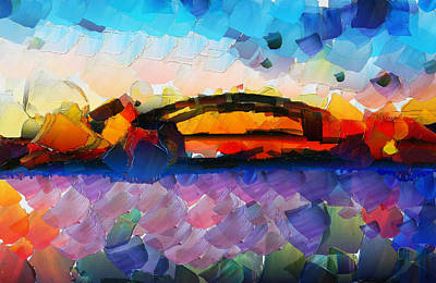 Sydney Skyline Painting - The Bridge I Will Cross by Sir Josef - Social Critic -  Maha Art