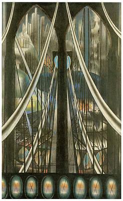 The Bridge Art Print by Joesph Stella