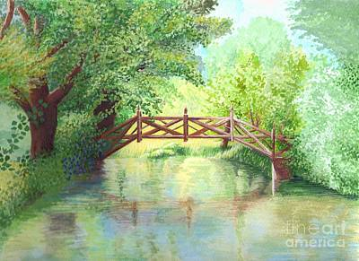 Painting - The Bridge by Julia Underwood