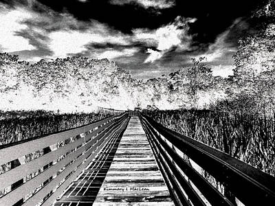 Digital Art - The Bridge by Kimmary MacLean