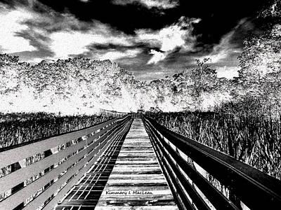 Digital Art - The Bridge by Kimmary MacLean