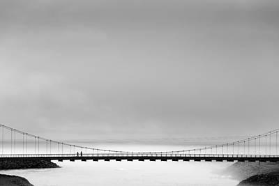 Fog Photograph - The Bridge by Markus Kuhne