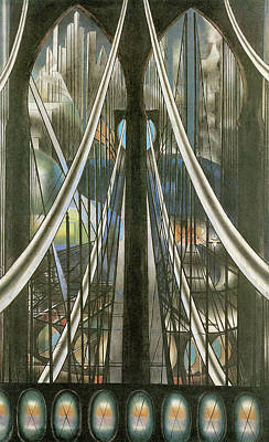 Industrial Age Painting - The Bridge New York by Joseph Stella
