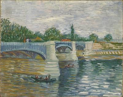 Painting - The Bridge Of Courbevoie, Paris by Artistic Panda