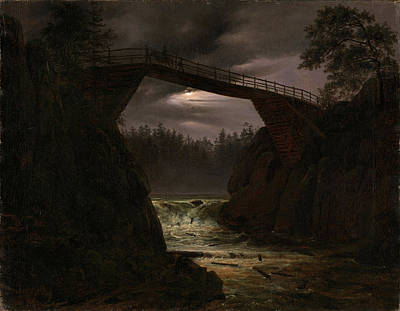 Fearnley Painting - The Bridge Of Hauge Outside Arendal by Thomas Fearnley