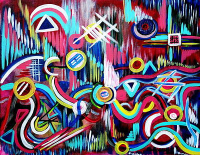 Painting - The Bridge Of Imagination  by Gina Nicolae Johnson