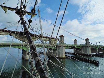 Photograph - The Bridge Of Lions From El Galeon by D Hackett