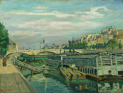 People Painting - The Bridge Of Louis Philippe by Armand Guillaumin
