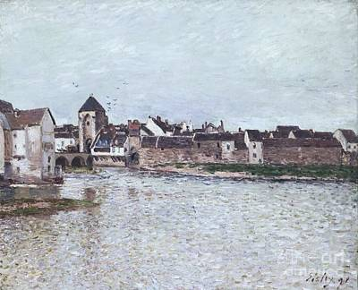 Loing Painting - The Bridge Of Moret-sur-loing by Celestial Images