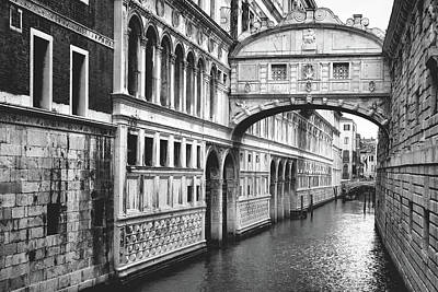 Photograph - The Bridge Of Sighs In Venice by Fine Art Photography Prints By Eduardo Accorinti