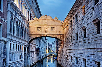 Photograph - The Bridge Of Sighs, Night by Jean Gill