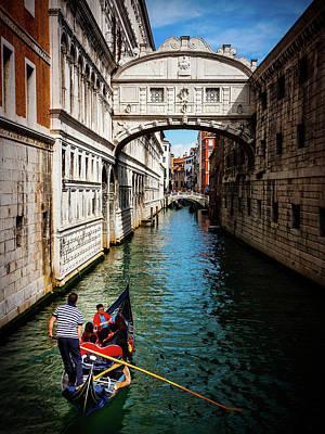 Photograph - The Bridge Of Sighs - Venice by Barry O Carroll