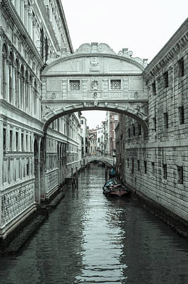 Photograph - The Bridge Of Sighs, Venice by Jean Gill
