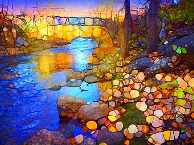 The Bridge On Ellis Creek Art Print