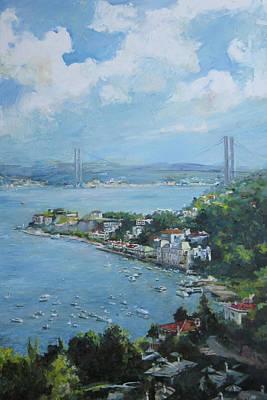 The Bridge Over Bosphorus Art Print