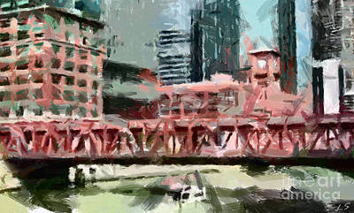 Photograph - The Bridge Over The Chicago River by Sergey Lukashin