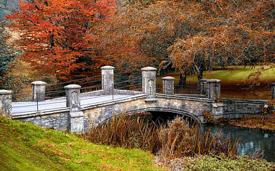 Photograph - The Bridge To Autumn By Mike Hope by Michael Hope