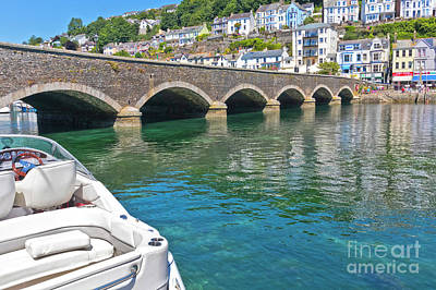 Photograph - The Bridge To East Looe by Terri Waters