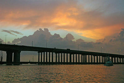 The Bridge To Galveston Art Print by Robert Anschutz